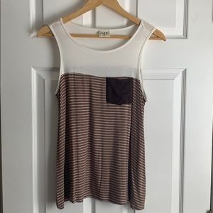 Striped Tank with Pocket